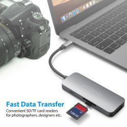Adaptador 7x1 DodoCool USB-C / HDMI/VGA/USB 3.0
